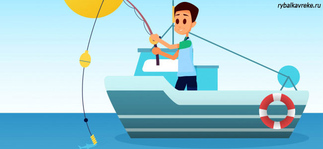 Ловля рыбы на макароны