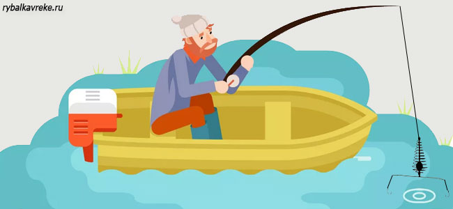 Ловля рыбы на пружину