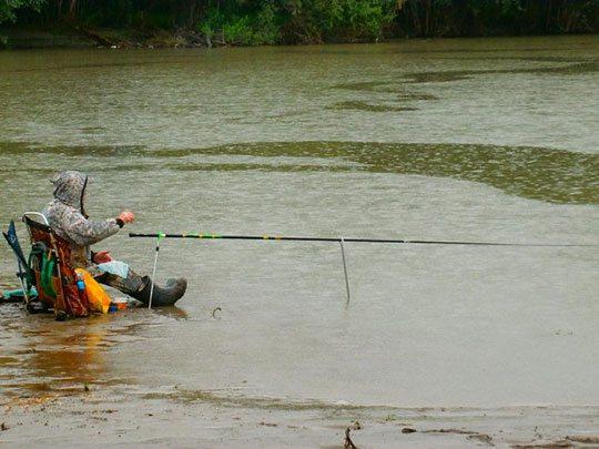 Тактика ловли рыбы в дождь